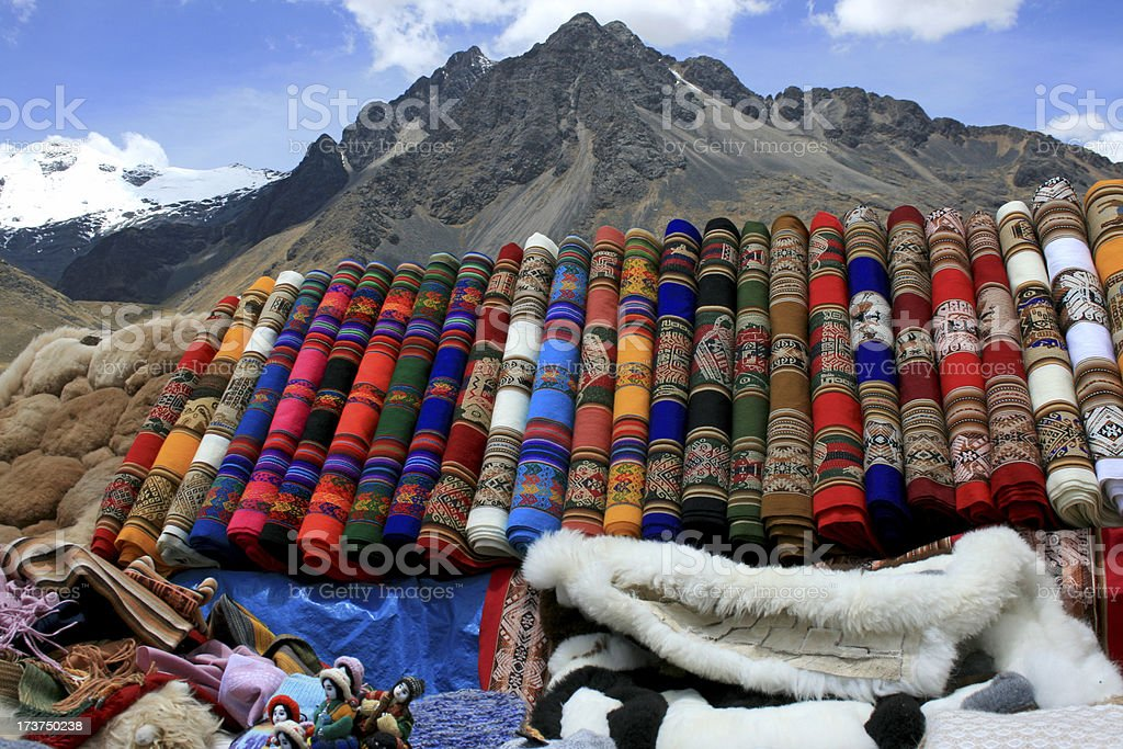 Traditional peruvian ponchos royalty-free stock photo