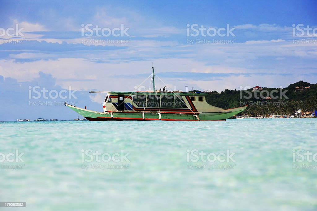 Traditional Philippine boat royalty-free stock photo