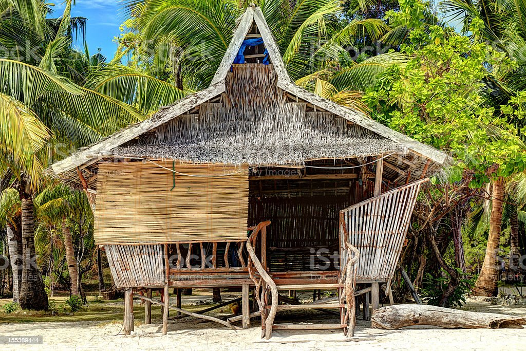 Traditional Philippine house stock photo