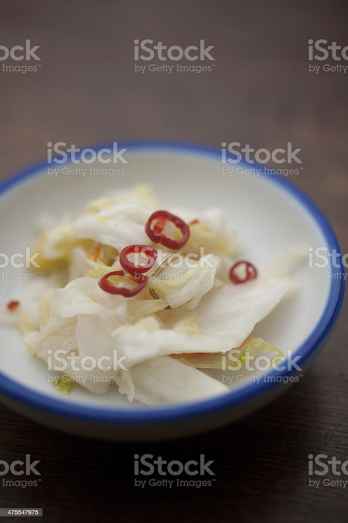 Traditional pickles of Japan. Tsukemono royalty-free stock photo