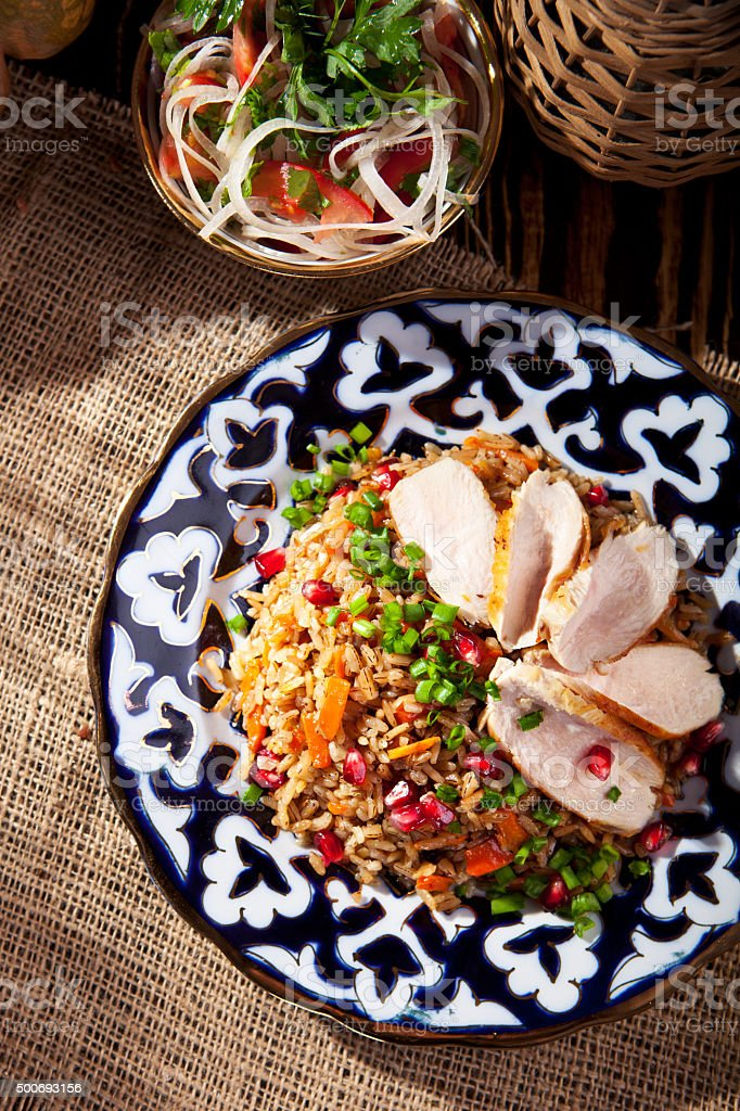Traditional Pilaf Dish stock photo