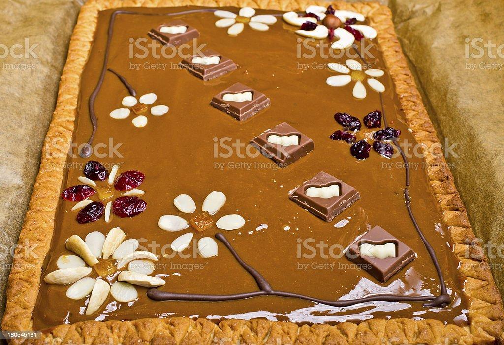 Traditional polish butterscotch cake stock photo