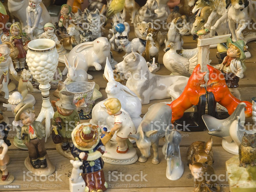 traditional porcelain and ceramics stock photo