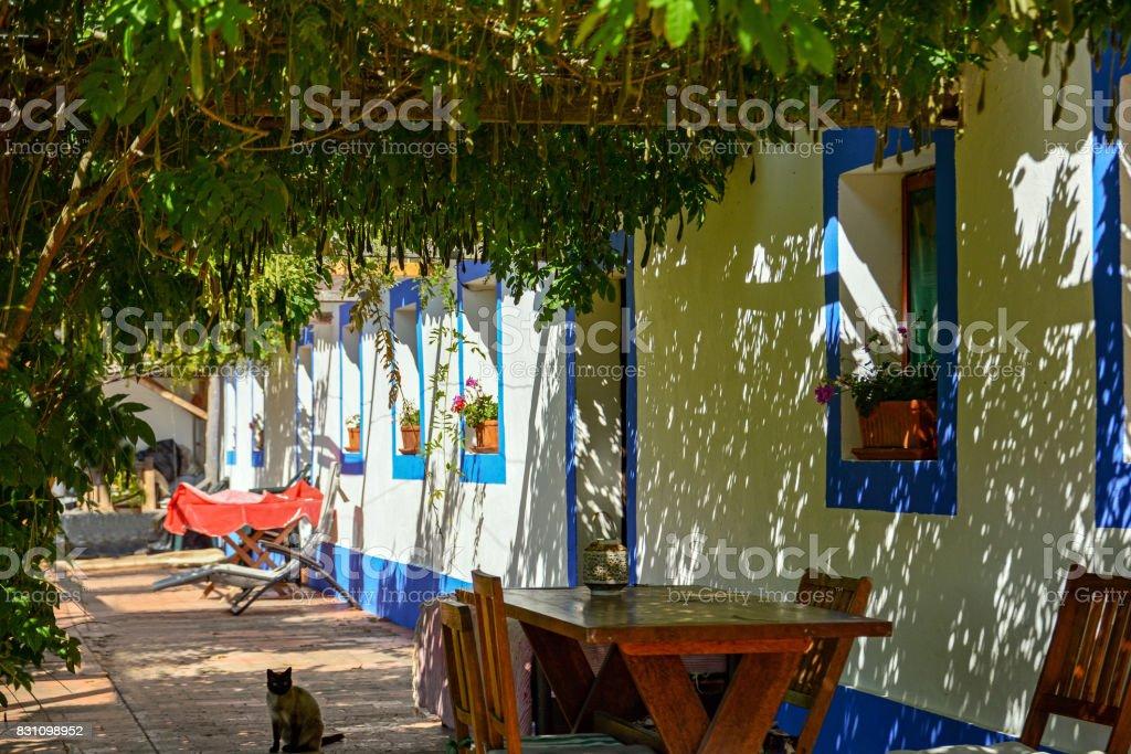 Traditional portuguese house in a village, Alentejo Portugal stock photo