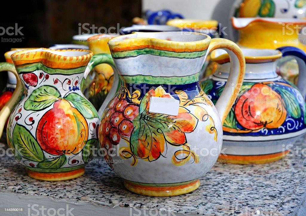 Traditional pots stock photo