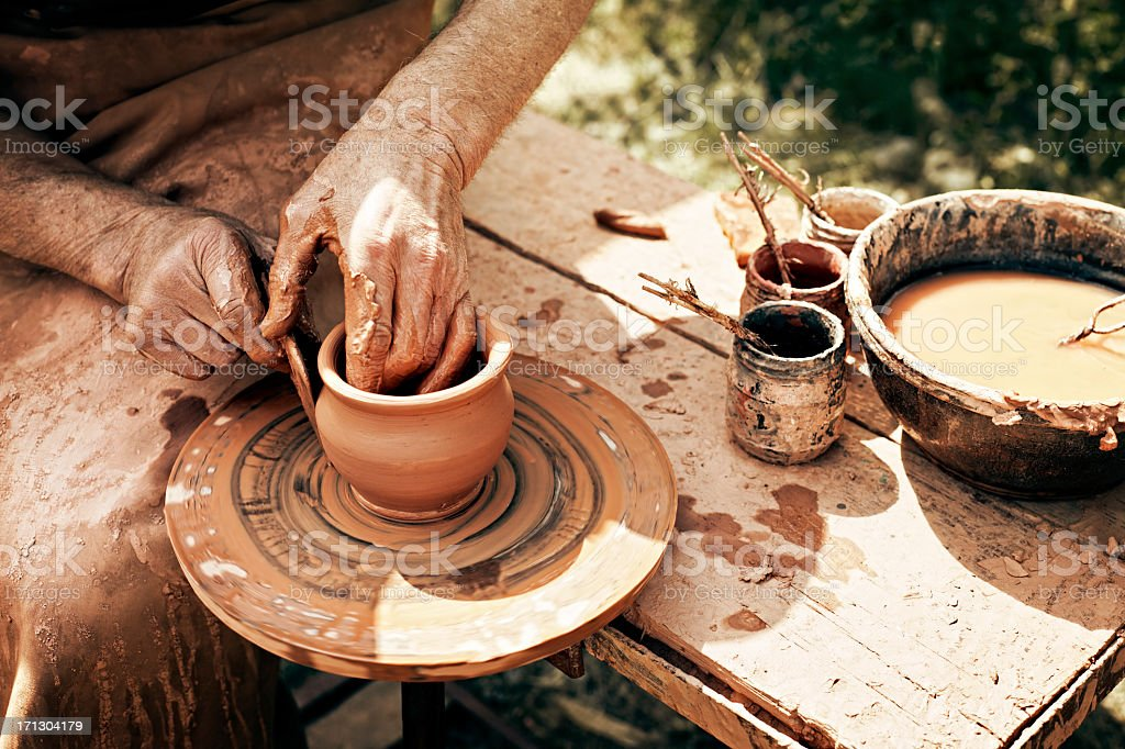 Traditional pottery stock photo