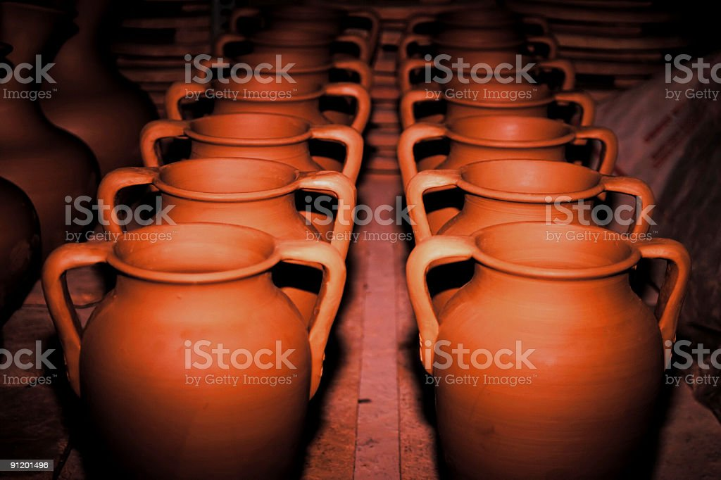 traditional pottery royalty-free stock photo