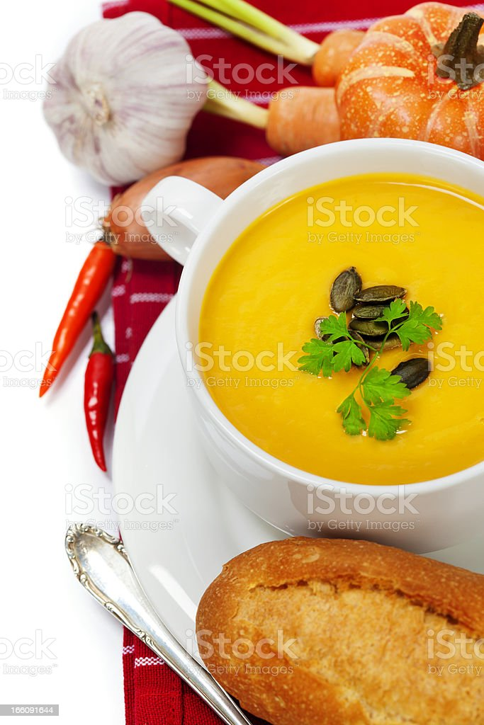 Traditional Pumpkin soup royalty-free stock photo