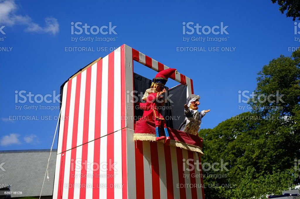 Traditional Punch And Judy Show stock photo