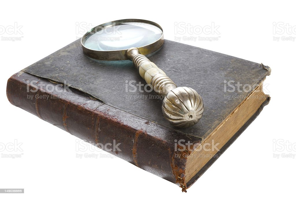 Traditional reading stock photo