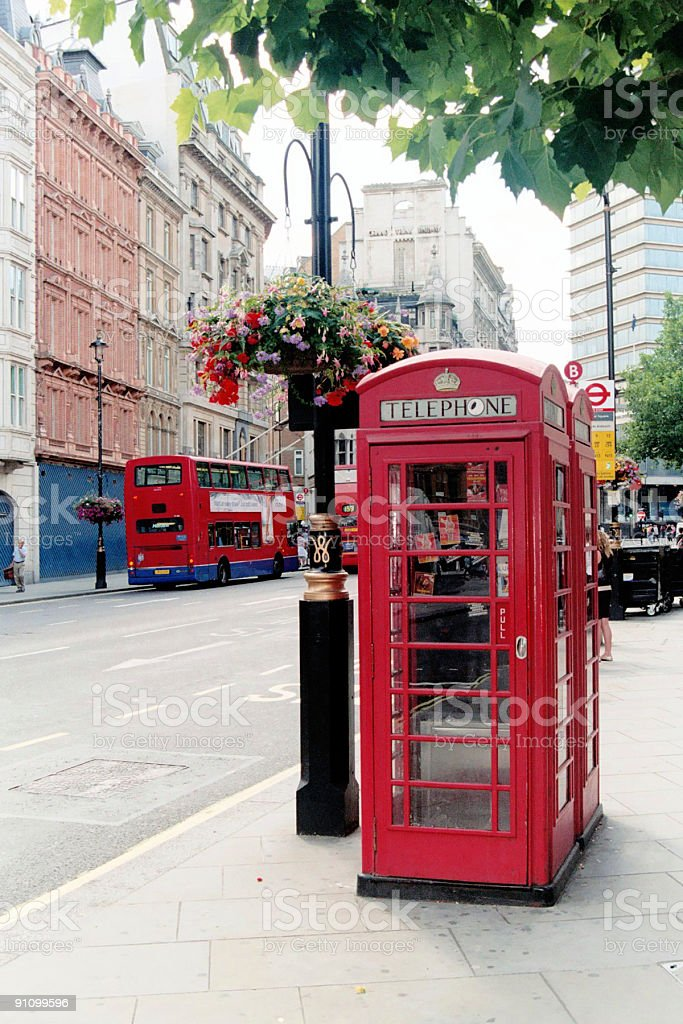 Traditional Red Phone Booth - London royalty-free stock photo