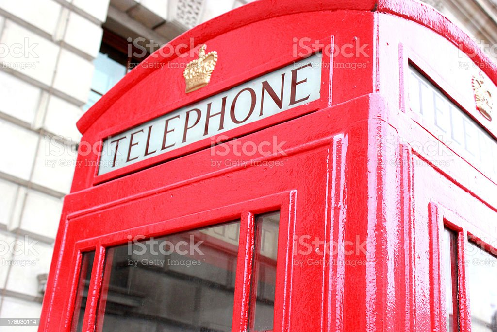 Traditional Red Telephone Box royalty-free stock photo