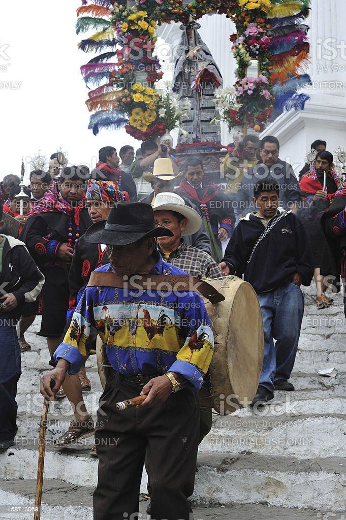 Traditional religious ceremony in Chichicastenango, Guatemala royalty-free stock photo