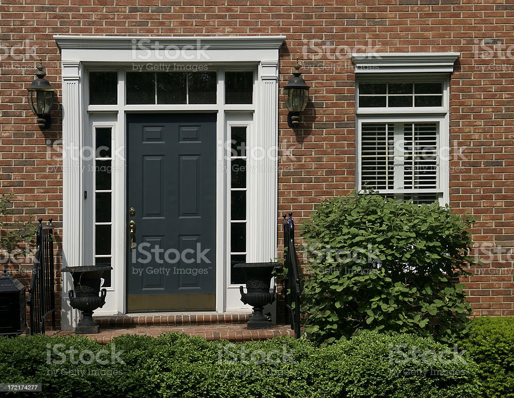 Traditional Residential Doorway royalty-free stock photo