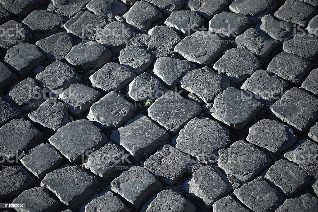 Traditional Roman road, macro stock photo