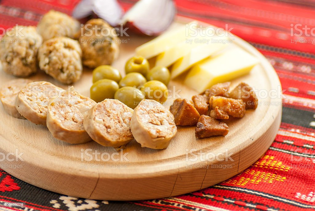 traditional romanian christmas appetizer stock photo
