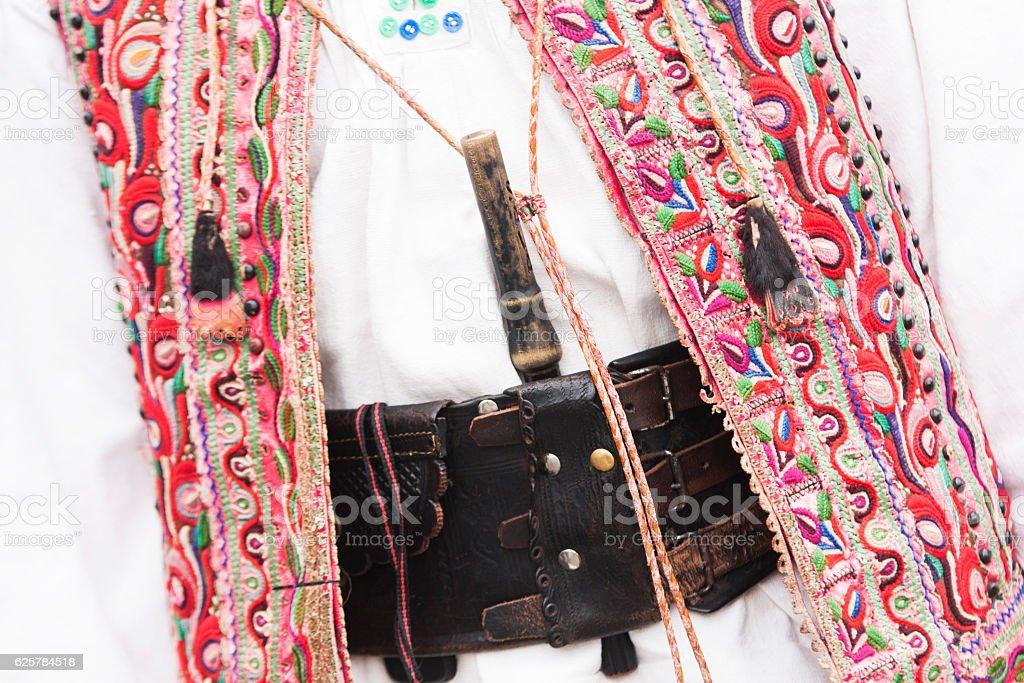 traditional romanian costume stock photo