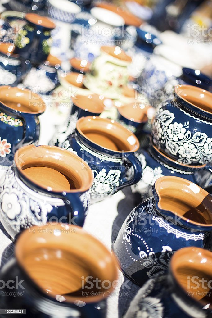 Traditional Romanian Pottery stock photo