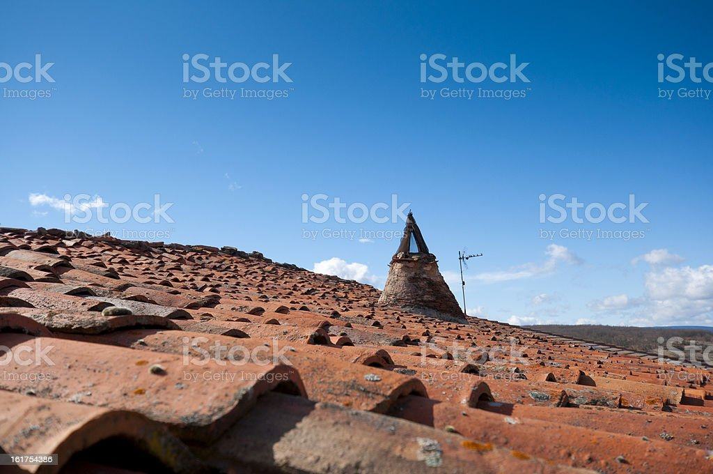 Traditional roof royalty-free stock photo
