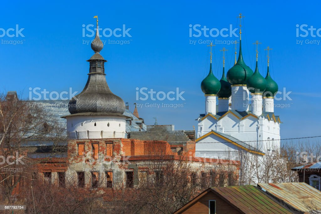 Traditional russian architecture stock photo