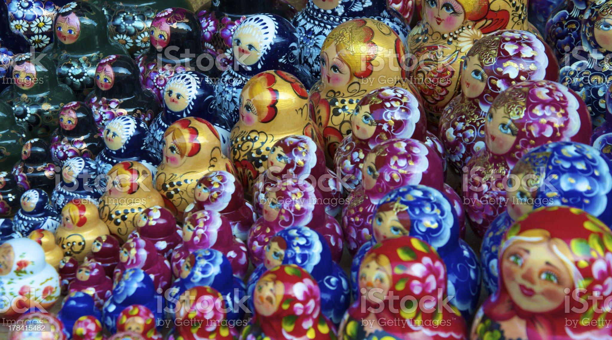 Traditional russian matrioska dolls royalty-free stock photo