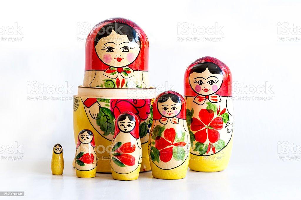 Traditional Russian matryoshka dolls stock photo