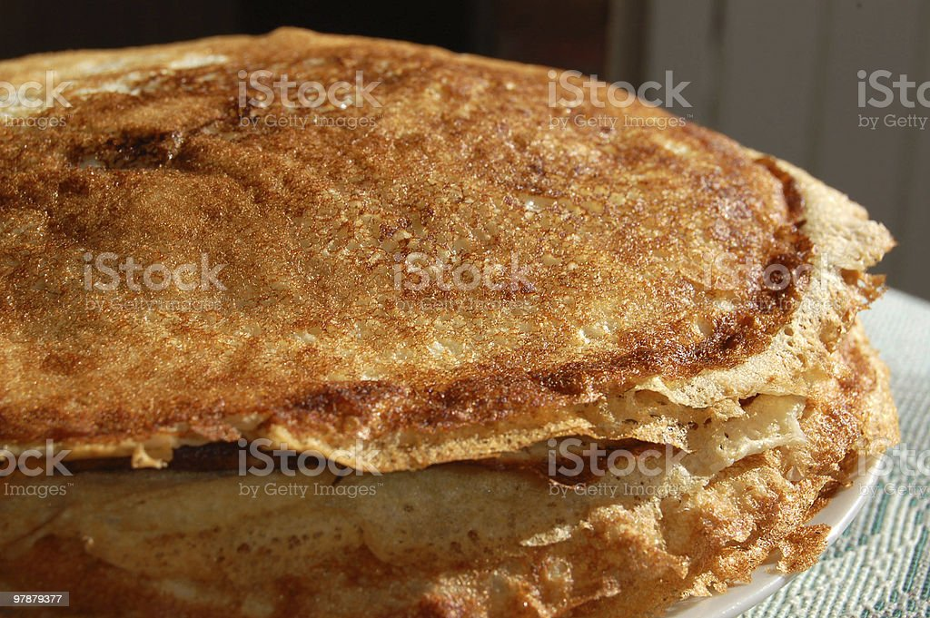 Traditional Russian pancakes stock photo