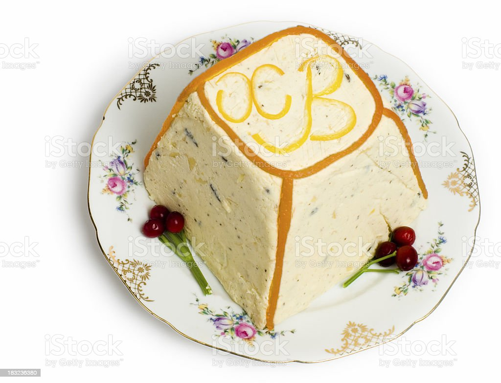 Traditional Russian Paskha dish royalty-free stock photo
