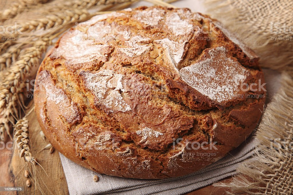Traditional rye bread royalty-free stock photo