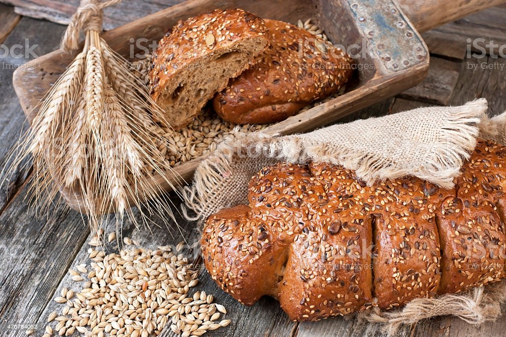 Traditional  rye bread stock photo
