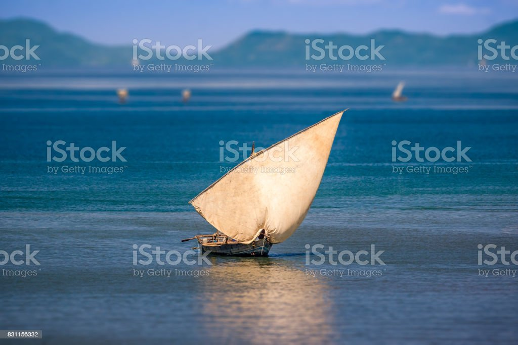 Traditional sailboat stock photo