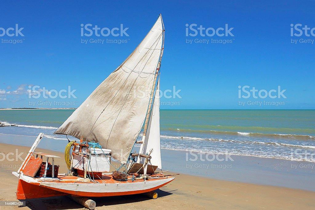 traditional sailing boat stock photo
