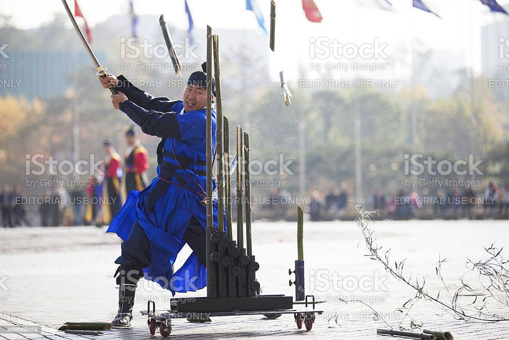 Traditional samurai royalty-free stock photo