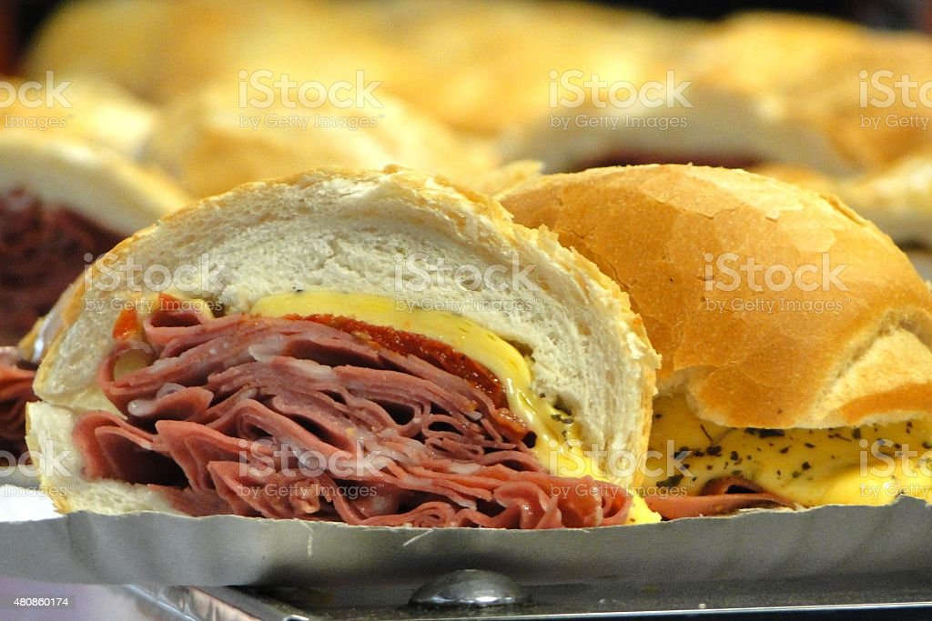 Traditional sandwich in Sao Paulo, Brazil stock photo