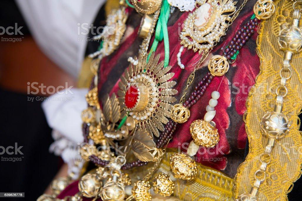 traditional Sardinian jewels stock photo