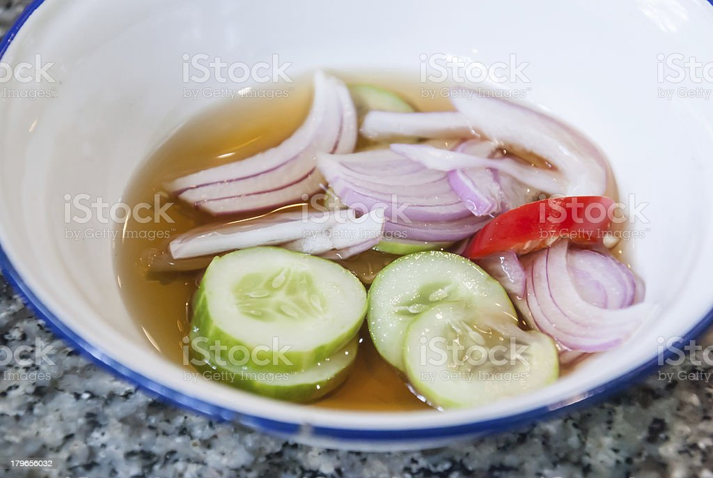 Traditional sauce (sweet and sour) royalty-free stock photo
