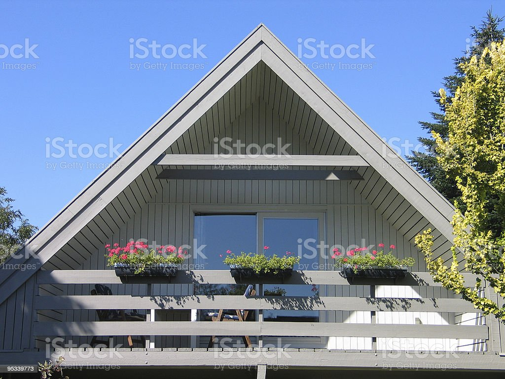 Traditional Scandinavian house royalty-free stock photo