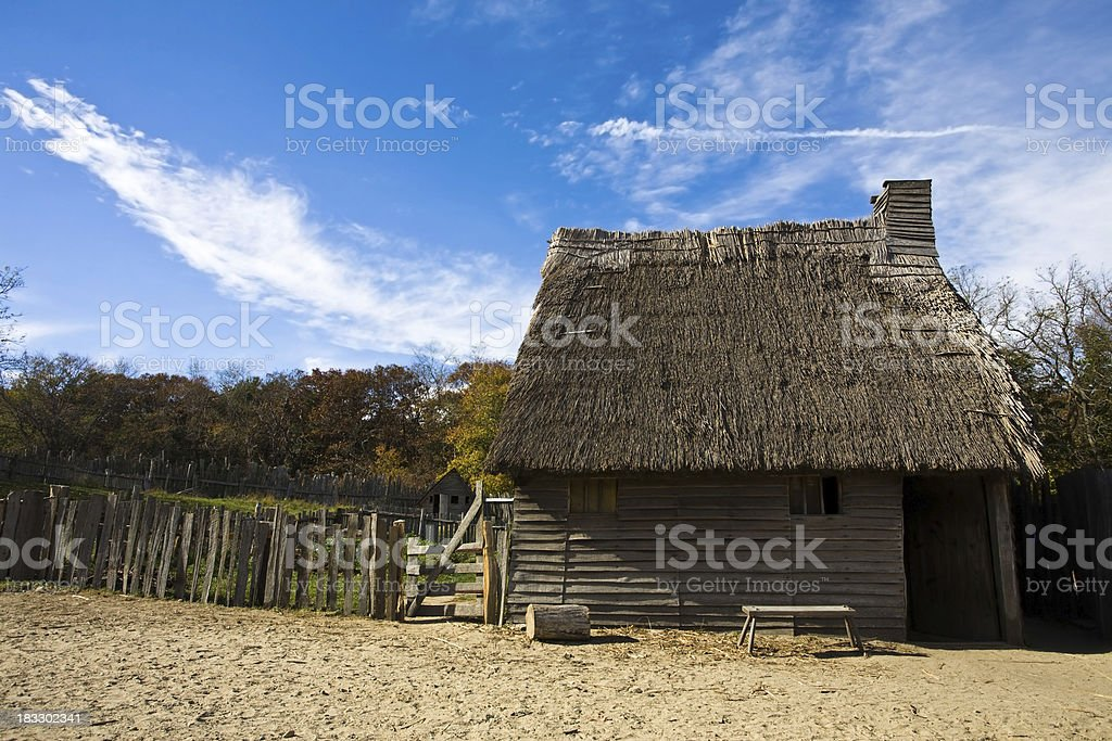 Traditional Settlers Home stock photo