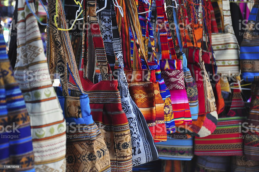 Traditional Shopping Bags stock photo