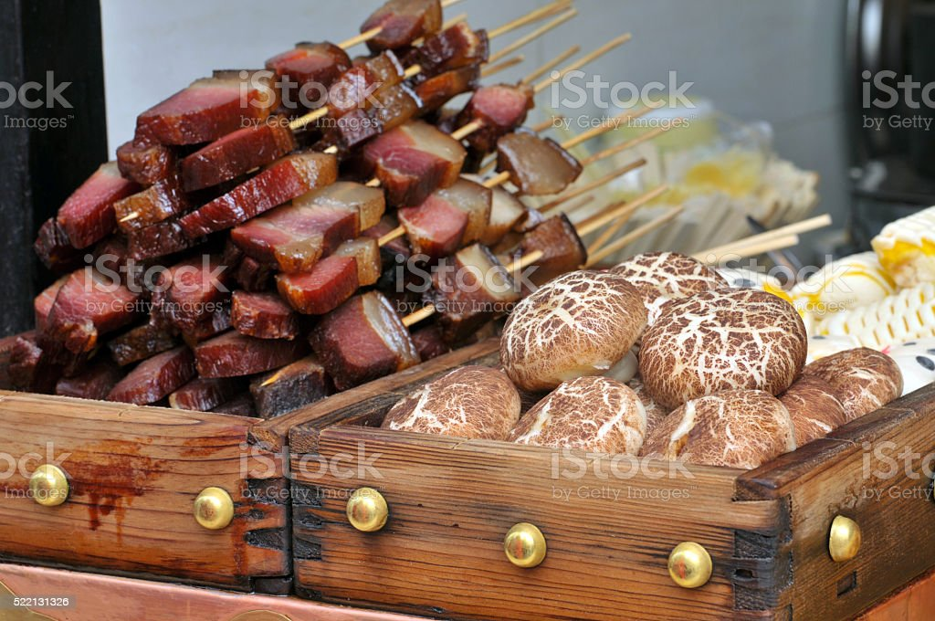 Traditional Sichuan snack stock photo