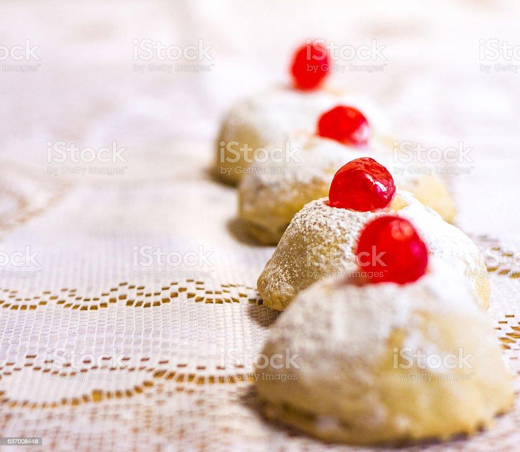 Traditional Sicilian Cookies/Cakes: Minne di Virgine stock photo