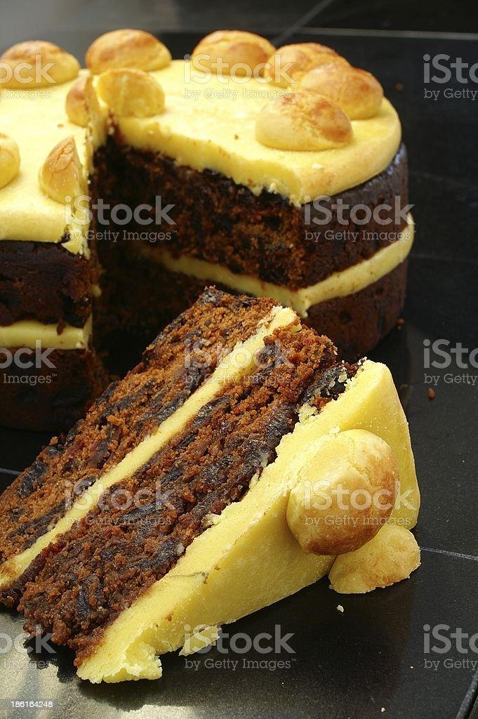 traditional sinmel cake on granite surface royalty-free stock photo