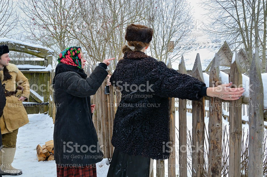 Traditional Slavonic divination royalty-free stock photo