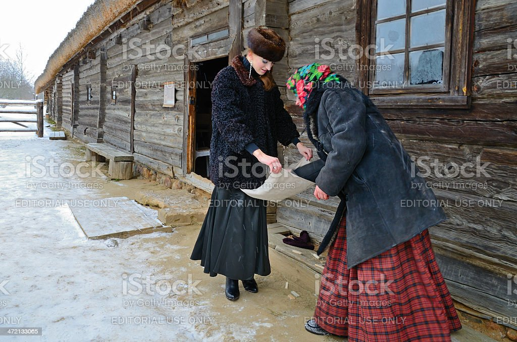 Traditional Slavonic divination stock photo