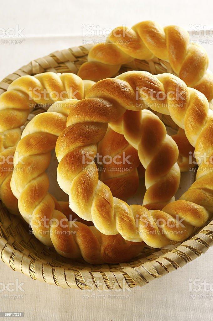 Traditional slovene baked rolls royalty-free stock photo