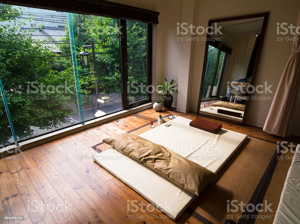 Traditional small  Acupuncture studio in Kyoto, Japan stock photo