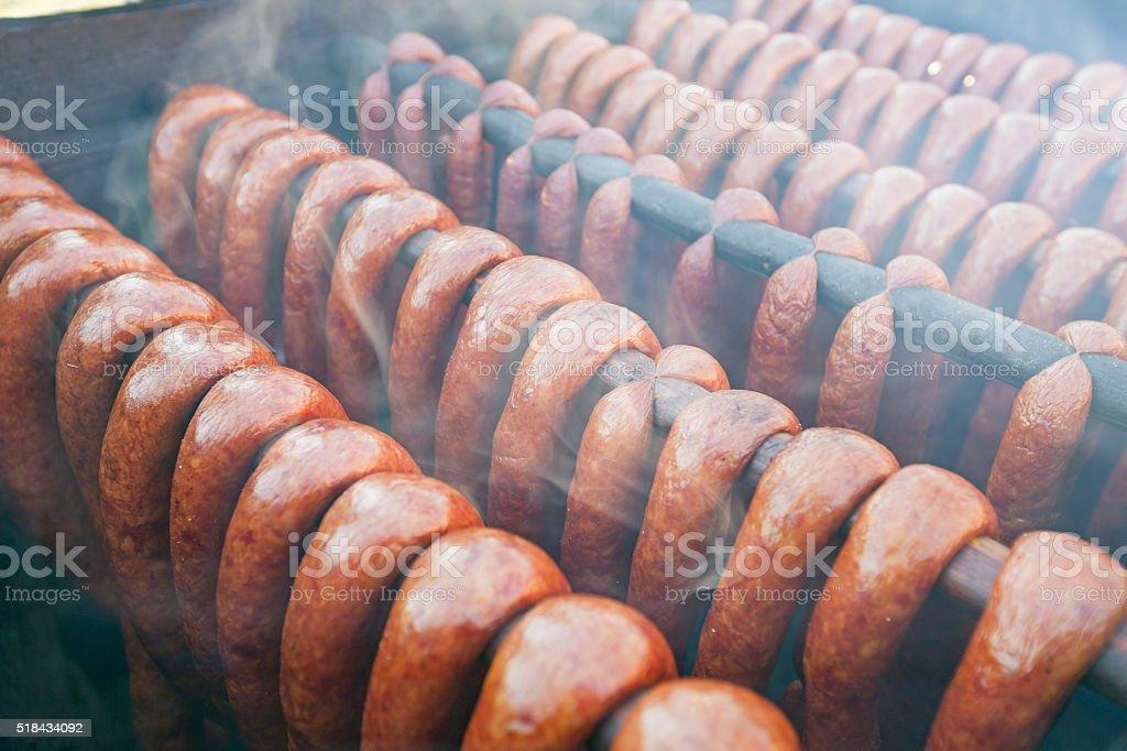 Traditional Smoked Sausage stock photo