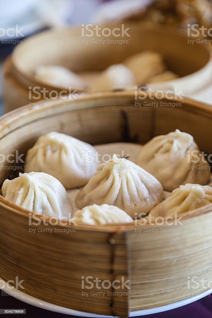 Traditional Soup-Filled Pork Dumpling stock photo