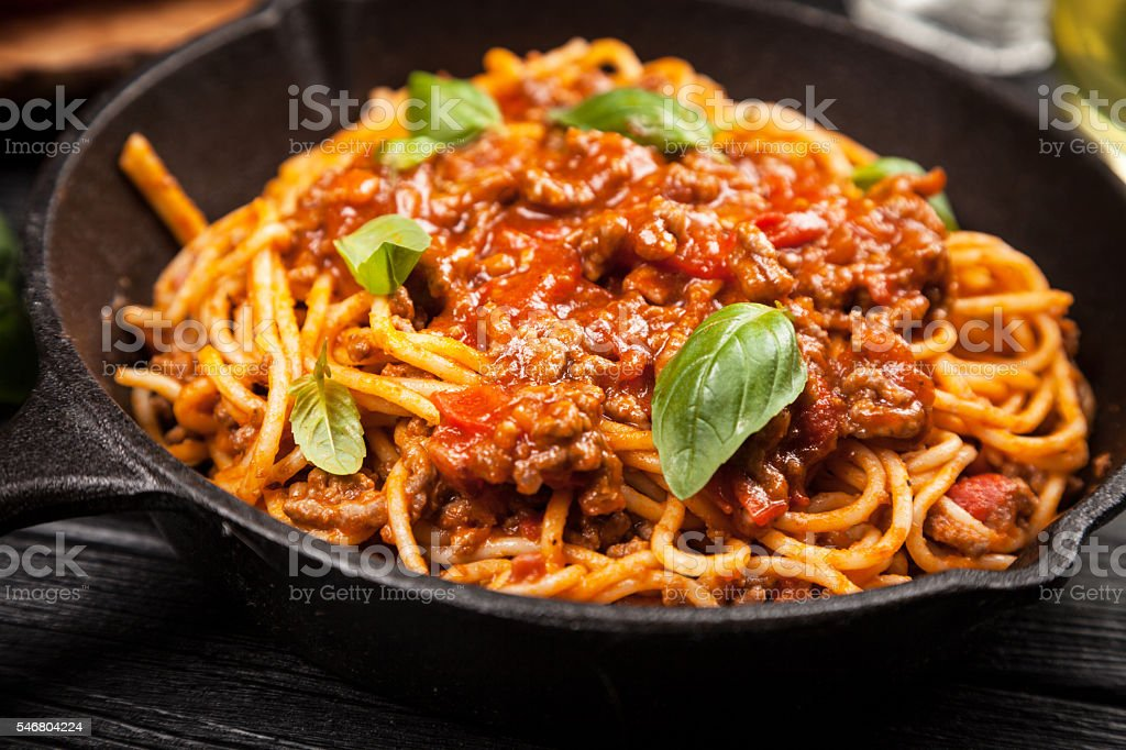 Traditional spaghetti bolognese stock photo