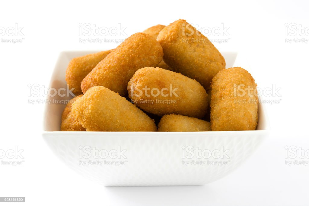 Traditional spanish croquettes stock photo